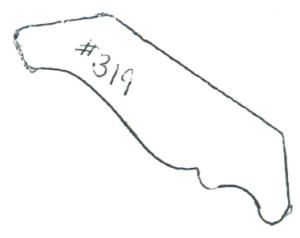 "#319 3/4"" x 2-5/8"""