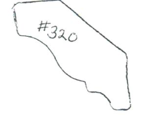 "#320 3/4"" x 2-1/8"""