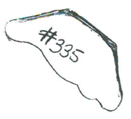 "#335 3/4"" x 1-3/4"""