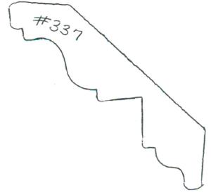 "#337 3/4"" x 3-3/4"""
