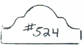"#524 3/4""x 1-9/16"""