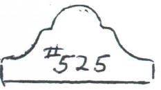 "#525 11/16"" x 1-5/16"""