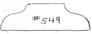"#549 3/4"" x 2-11/16"""
