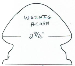 """Weinig Acorn 2-9/16"""""""